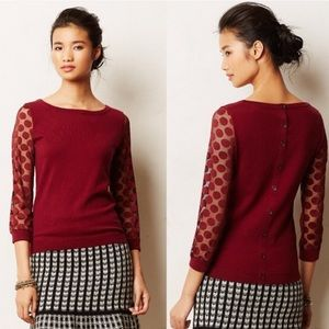 Sparrow Mesh polka dot sleeve Sweater